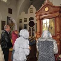 В храме Александра Невского