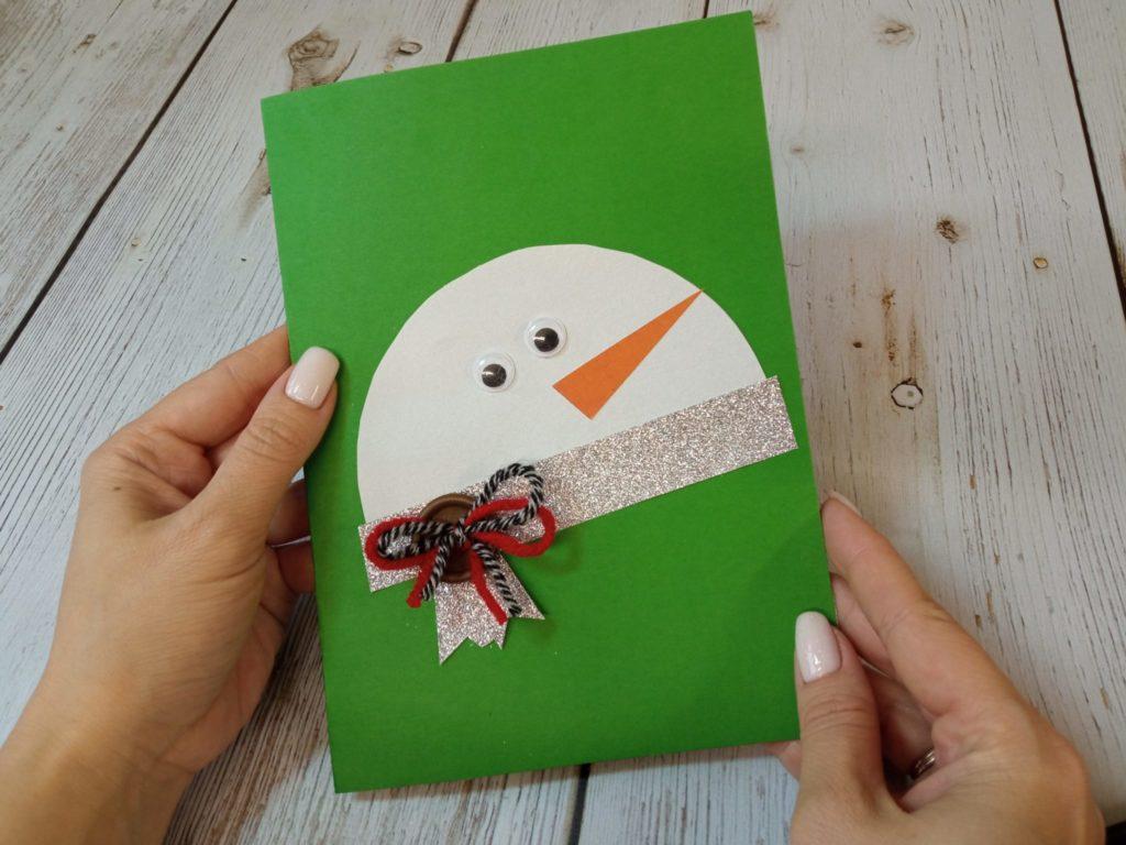 Видео-мастер-класс по изготовлению открытки  «Снеговик» 6+